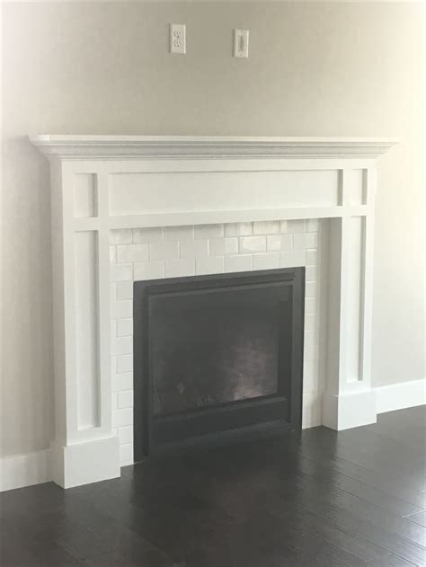 subway tile fireplace 1000 ideas about subway tile fireplace on