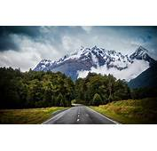 Road Landscape Mountains Clouds Forest New Zealand