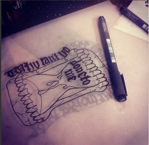 a day to remember tattoos a day to remember lyric hourglass design by