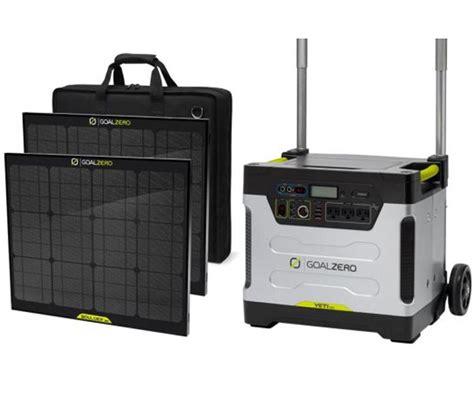 goal zero yeti 1250 solar generator kit sportsman s