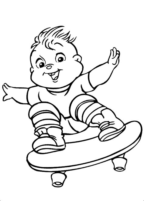 alvin and the chipmunks coloring pages team colors