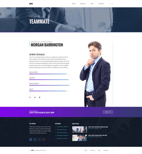 busis clean multipurpose business corporate psd template by torbara