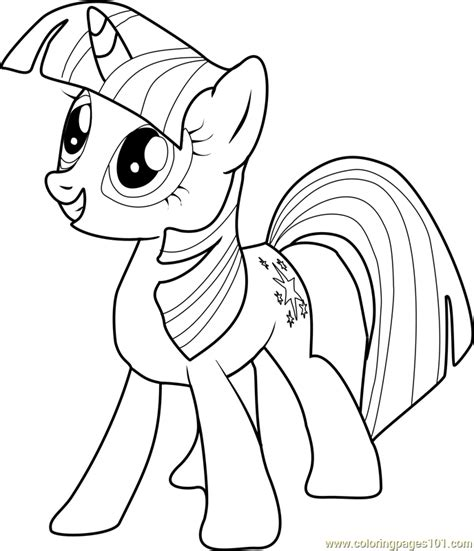 twilight sparkle coloring page twilight sparkle coloring page free my pony