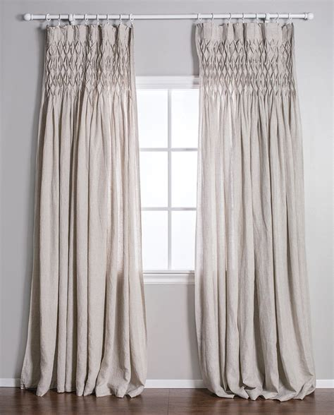 smocked curtains smocked curtain