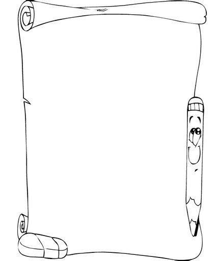 imagenes en blanco y negro de utiles escolares marcos en blanco y negro o marcos para colorear para