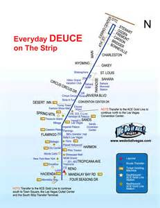 Las Vegas Deuce Map by The Las Vegas Deuce Bus