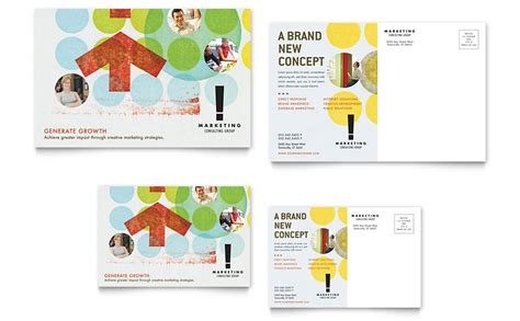 post card designs templates marketing consultant postcard template word publisher
