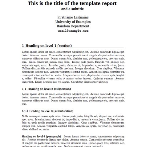report templates free business template
