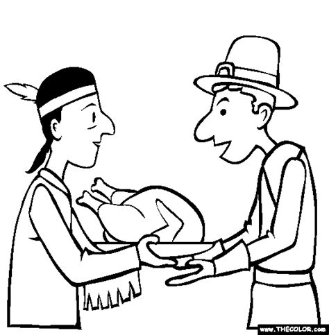 coloring pages for the first thanksgiving first thanksgiving online coloring page coloring kids