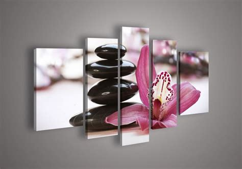 feng shui art for bedroom 5 panel wall art botanical red feng shui orchid oil