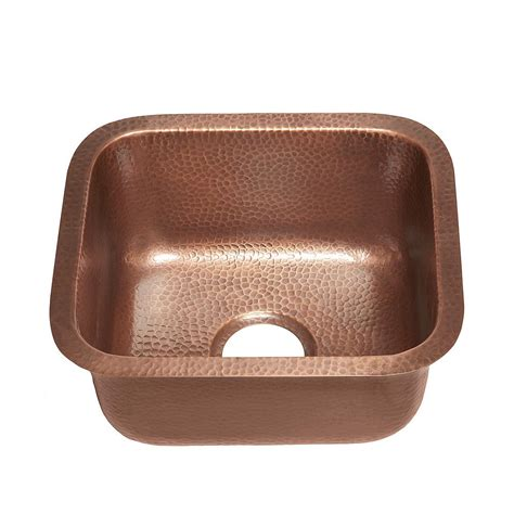 undermount copper kitchen sink sinkology sisley 17 undermount handmade copper sink 15 in