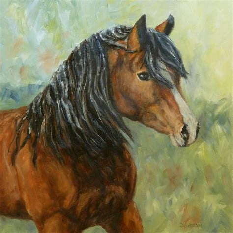 animal painting daily painting projects mystic exmoor pony painting