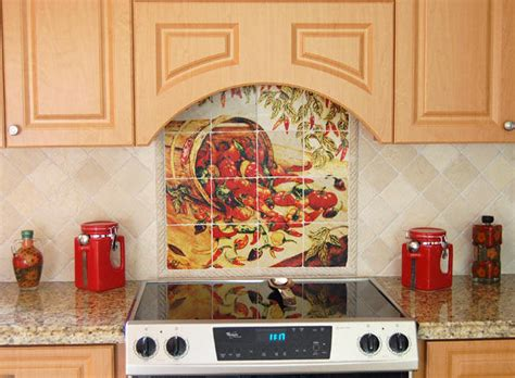 kitchen mural ideas mexican home decor peppers kitchen backsplash tiles murals