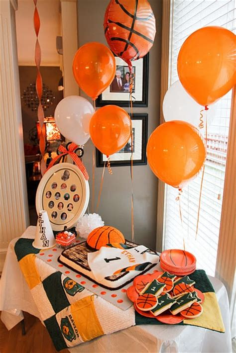 Basketball Themed Birthday Decorations by Decorations And Cookies Basketball Cake