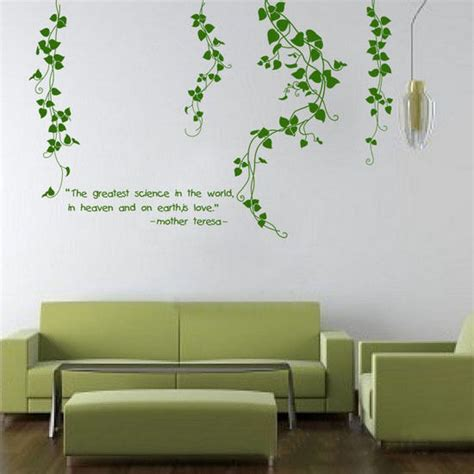removable wall decals for living room flower vine living room mural decor removable art vinyl