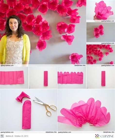 Handmade Paper Flowers Tutorial - diy wall handmade paper flowers tutorial