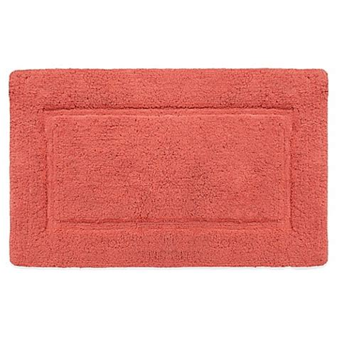 Coral Bathroom Rug Buy Wamsutta 174 Soft Micro Cotton 174 21 Inch X 34 Inch Bath Rug In Coral From Bed Bath Beyond