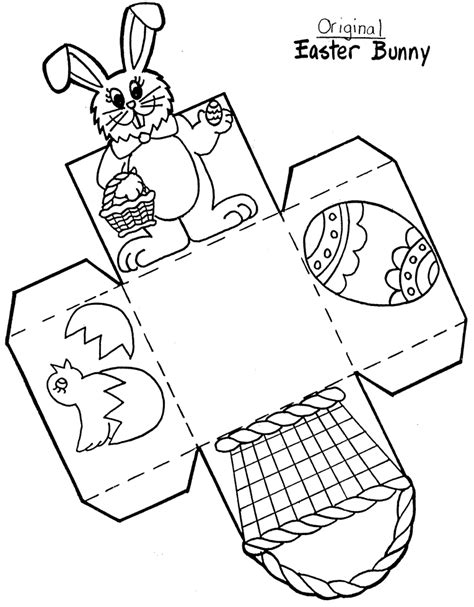 easter bunny basket template printable early play templates want to make a simple easter basket