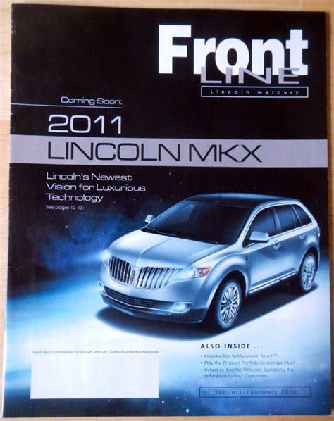 2013 lincoln mkx brochure sell lincoln frontline magazine brochure nov dec 2011