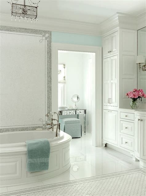 bathroom mirrors st louis white and turquoise bathroom traditional bathroom at