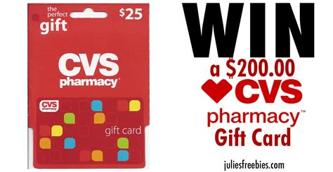 cvs cards win a 200 cvs gift card julie s freebies