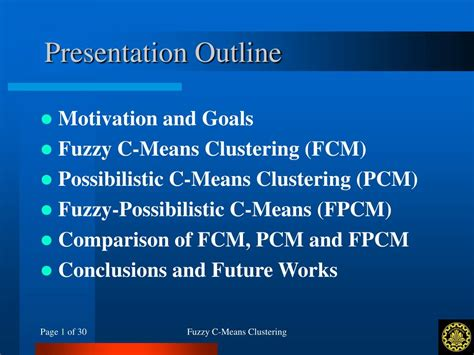 pattern classification based on fuzzy relations ppt ppt fuzzy c means clustering powerpoint presentation