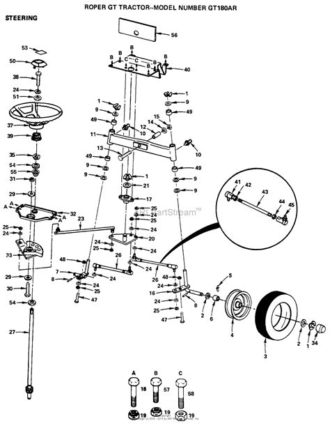 steering wheel parts diagram ayp electrolux gt180ar 1999 before parts diagram for