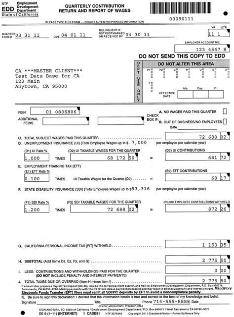 printable w 9 form california california de 9 and de 9c fileable reports
