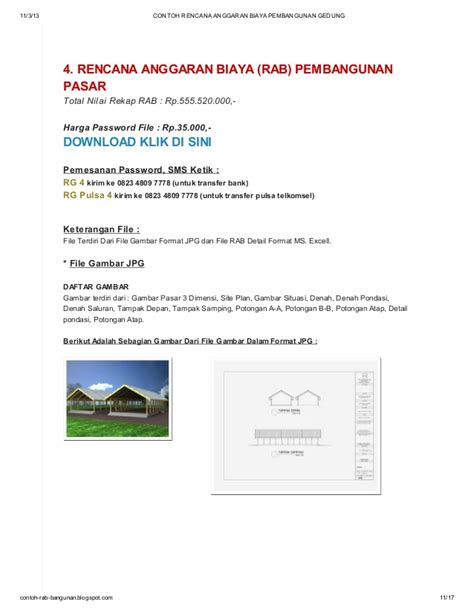 contoh rencana anggaran biaya pembangunan gedung di blog httpcontoh contoh rencana anggaran biaya pembangunan gedung di blog