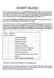 trapped on an island worksheet english teaching worksheets desert island
