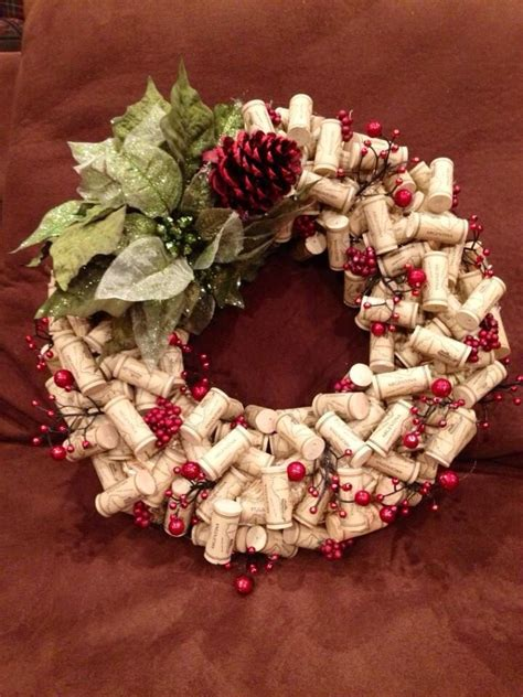 wine cork wreath i made