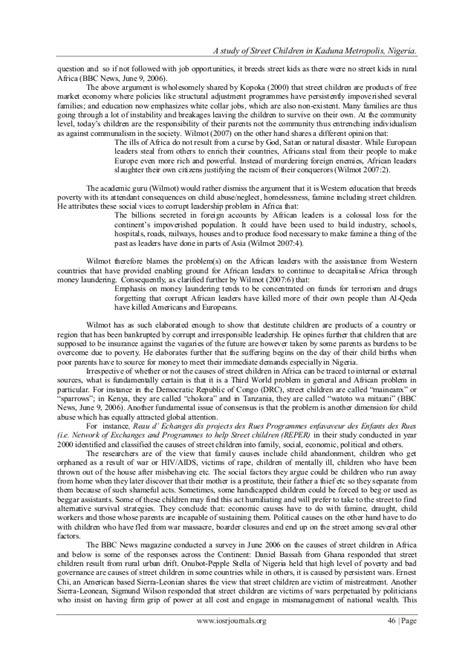 Application Letter Format In Nigeria A Study Of Children In Kaduna Metropolis Nigeria