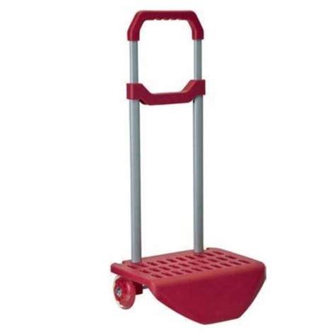 carrello porta zaino carrello trolley zaino di colore rosso porta zaini 2 ruote