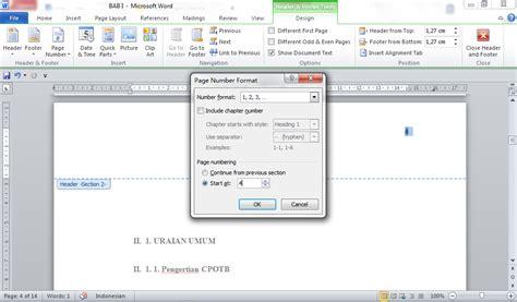 cara membuat nomor halaman karya tulis cara membuat daftar isi otomatis membuat halaman pada