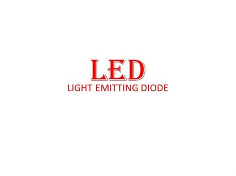 light emitting diode working ppt light emitting diode led authorstream