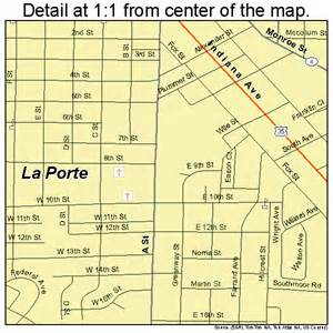 la porte indiana road map in atlas poster prin ebay