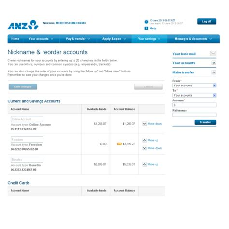 anz mobile site anz banking review security measures and
