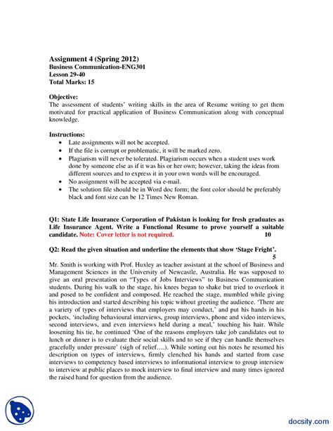 Resume Assignment by Assignment On Resume Writing