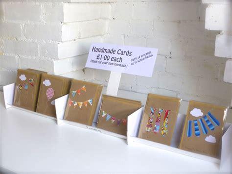 Handmade Show - handmade recycled greetings cards for school fair or