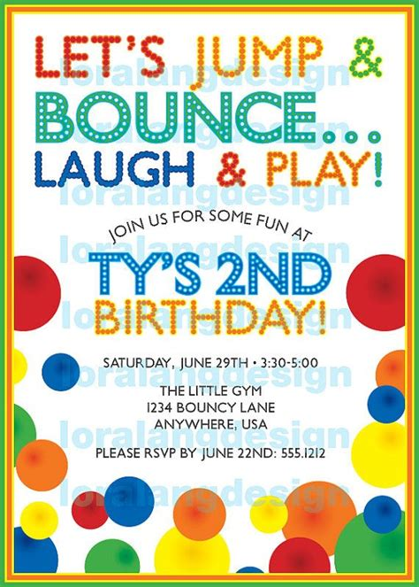 Diy Printable Bouncy Ball Birthday Party Invitation Ball Birthday Birthday Party Invitations Free Bounce Invitation Template