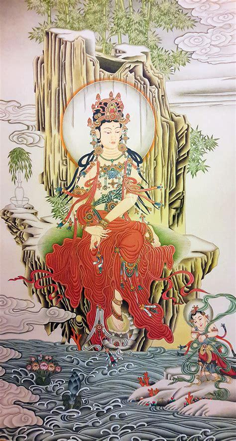 asian inspired home decor from nepal buddhist mandala thangka guanyin thangka painting