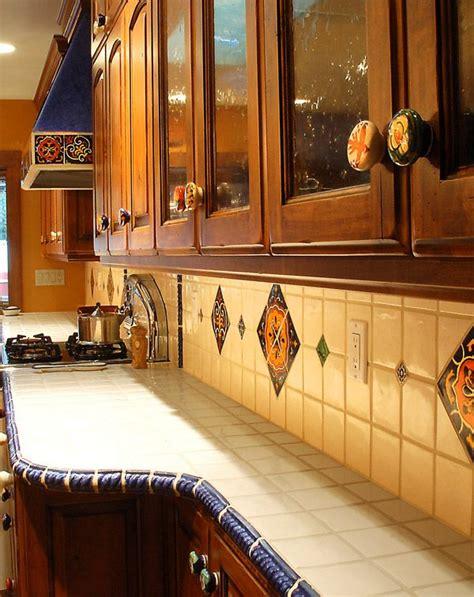 southwest kitchen talavera accent tiles  knobs
