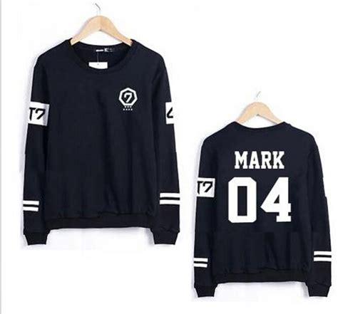 Sweater Got7 Sleeve Pilih Nama Member aliexpress buy kpop got7 all members hoodies