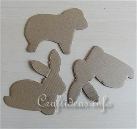 cardboard sheep template easter craft easter bunny and sheep