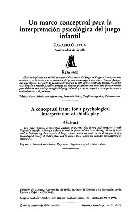 (PDF) Un marco conceptual para la interpretación