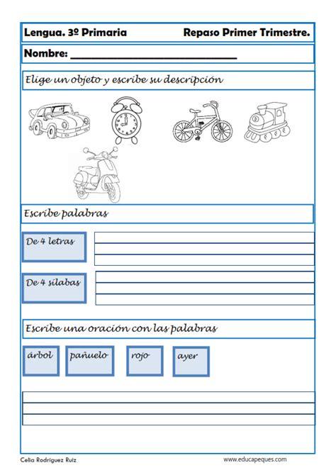 lectura y redaccin ejercicios y teora sobre lengua espaola ejercicios de lengua para tercero de primaria