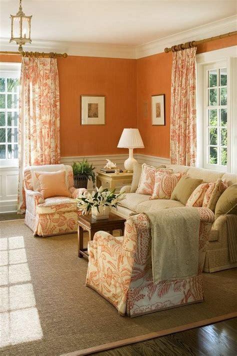 burnt orange living room curtains