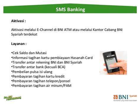 format cek saldo sms banking bni syariah pelatihan dana syariah 2014