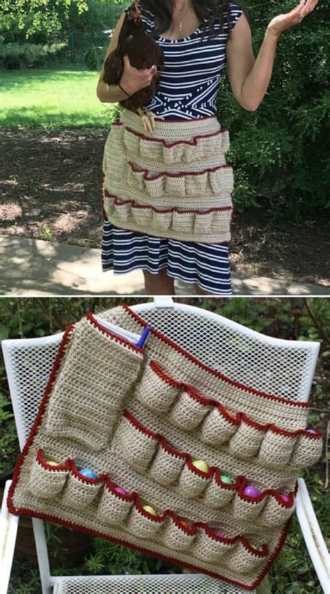 pattern egg gathering apron crochet egg gathering apron pattern is pure genius and free