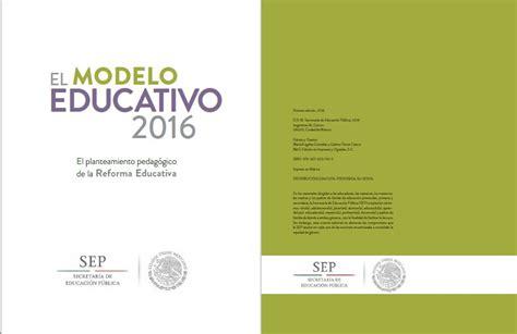 modelo de la evaluacion nacional aprender 2016 el modelo educativo 2016 el planteamiento educativo de